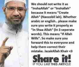 lafal In Shaa Allah